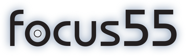'focus55' as logo text